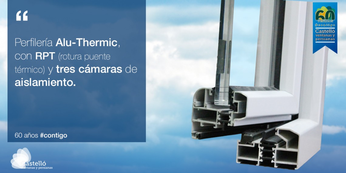 Alu thermic perfiler a de aluminio con rotura de puente t rmico ventanas castell - Aluminio con rotura de puente termico ...