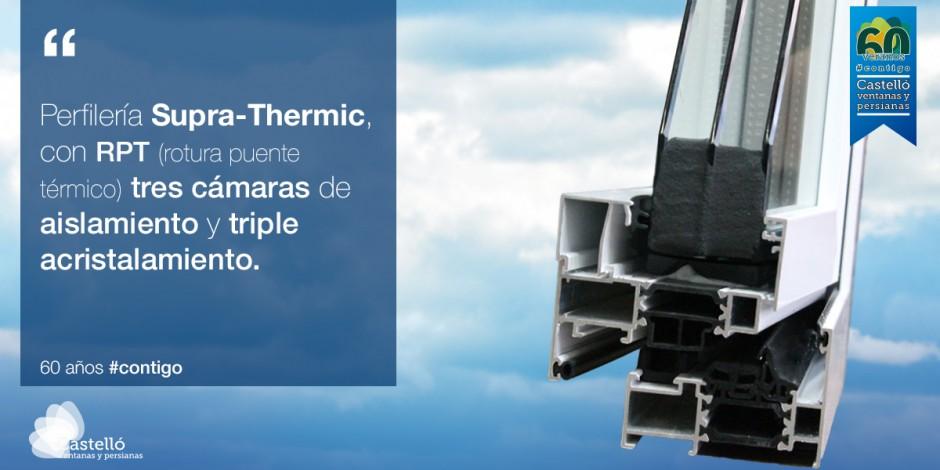 Supra-Thermic, la mejor ventana de aluminio del mercado.